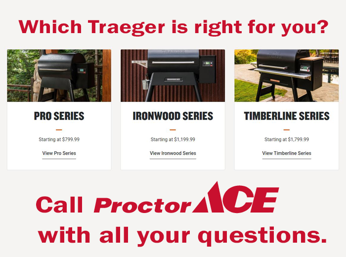 Proctor Ace Traeger selection