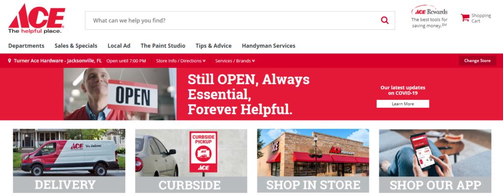 Shop Ace Hardware Website